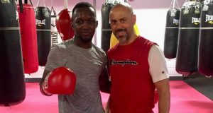 Abass Baraou joins forces with Adam Booth ahead of his April 4th ring return. Photo Credit: Team Sauerland.