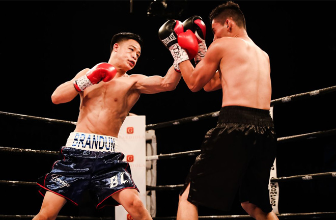 Brandun Lee in action on his way to one of his eighteen victories. Photo Credit: Amanda Westcott/SHOWTIME