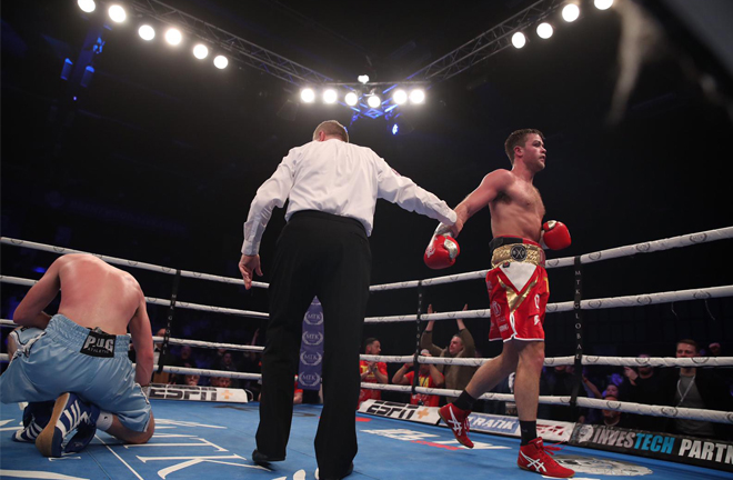 Dignum scored three knockdowns on route to stopping Meli Credit: MTK Global