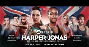 Terri Harper makes a maiden defence of her WBC world Super Featherweight crown against Natasha Jonas in Doncaster Credit: Matchroom Boxing