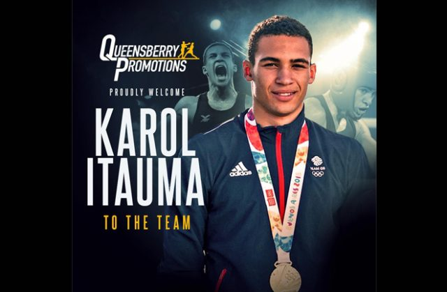 Decorated amateur Karol Itauma is set to turn over with Frank Warren's Queensbury Promotions Credit: Queensbury Promotions