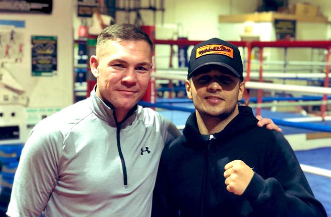Fiaz is plying his trade under the tutelage of trainer Jamie Moore Credit: Aqib Fiaz