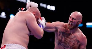 Robert Helenius produced a huge upset to stop Adam Kownacki in Brooklyn Credit: BT Sport Boxing