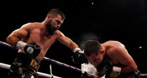 Jono Carroll stunned Scott Quigg at the Manchester Arena to force an eleventh round stoppage Credit: Matchroom Boxing