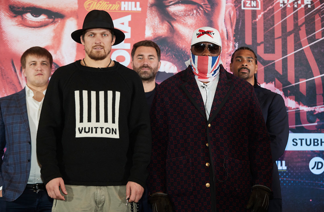 Derek Chisora and Oleksandr Usyk will collide at a later date Credit: Matchroom Boxing