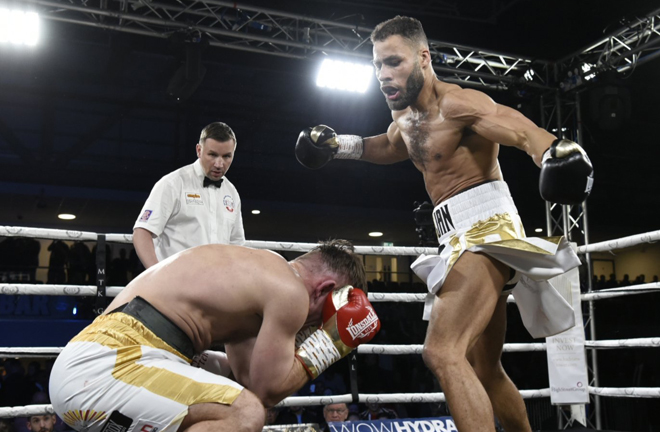 Troy Williamson marched on with a stoppage win in Newcastle image Credit: MTK Global