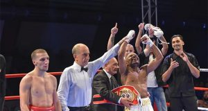 Bruno Tarimo winning in Serbia as an underdog. Photo Credit: WBN