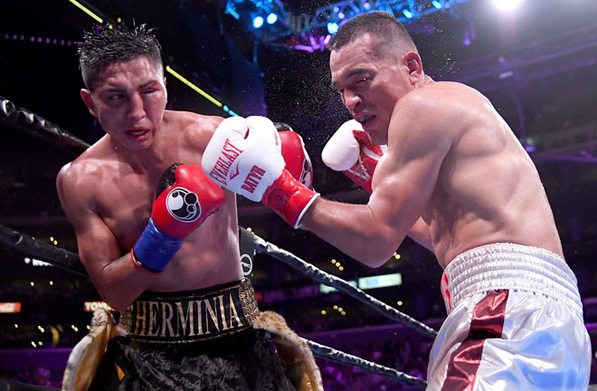 Mario Barrios during his World title winning fight. Photo Credit: Bad Left Hook