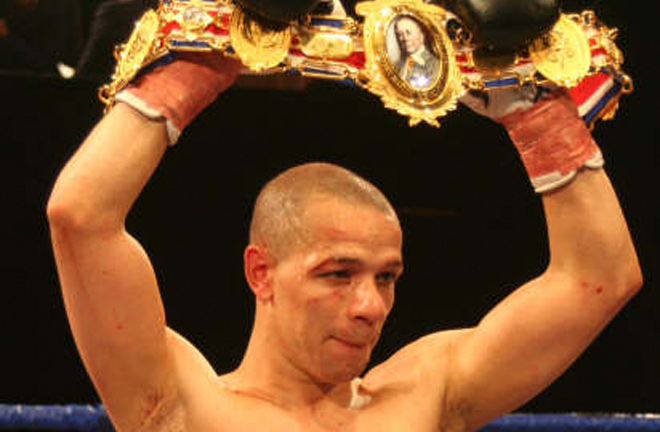 Carl Johanneson after defeating Michael Gomez to claim the British title. Photo Credit: SaddoBoxing