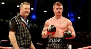 Steve Collins Senior and Junior after one of Junior's win. Photo Credit: The Guardian