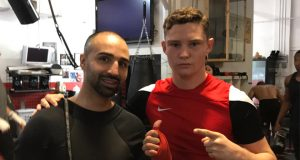 Josh Frankham with Paulie Malignaggi. Photo Credit: Josh Frankham Twitter