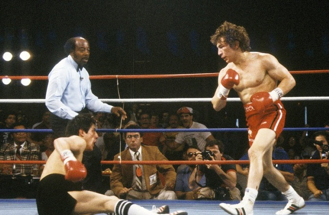 Ray 'Boom Boom' Mancini against Frietas. Photo Credit: The Fight City