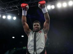 Unbeaten Frank Warren fighter David Adeleye scored a first round KO on his debut in December Credit: Tapology