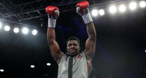 Unbeaten Frank Warren fighter David Adeleye scored a first round KO on his debut in December Credit: Tapology
