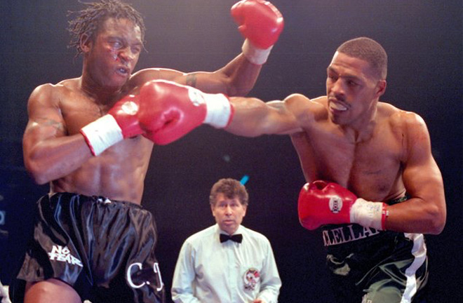 Nigel Benn and Gerald McClellan played out a pulsating world title fight in 1995 Photo Credit: The Ring