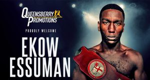 Ekow Essuman joins forces with Frank Warren. Photo Credit: Frank Warren