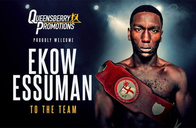 Ekow Essuman joins forces with Frank Warren. Photo Credit: Frank Warren