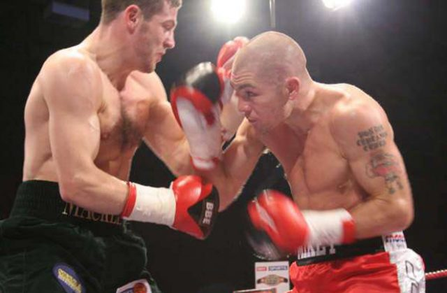Jamie Moore and Matthew Macklin played out an enthralling battle in Manchester in 2006 Photo Credit: Jane Warburton / Saddo Boxing
