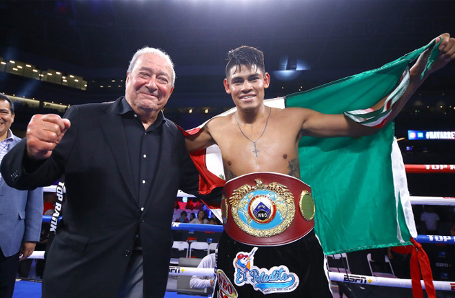 Promoter Bob Arum has heaped praise on the Mexican world champion Credit: Boxing Scene