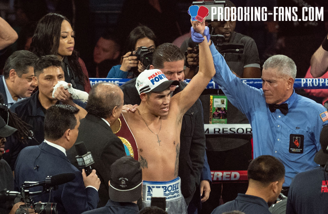 The 25-year-old has made five defence of the WBO Super Bantamweight world title Credit: Pro Boxing Fans