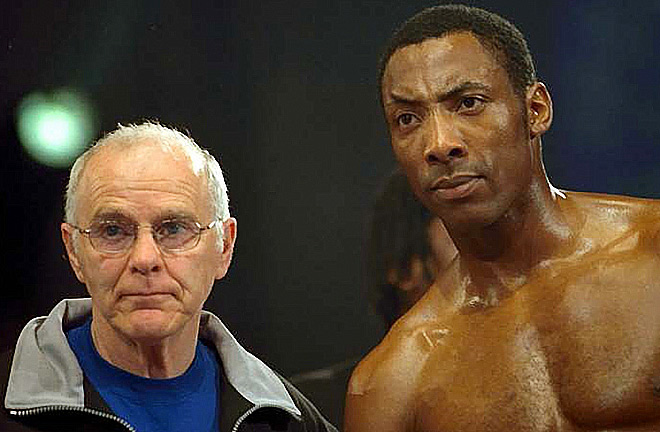 The man who created the champion, Brendan Ingle and Johnny Nelson. Photo Credit: Boxing News