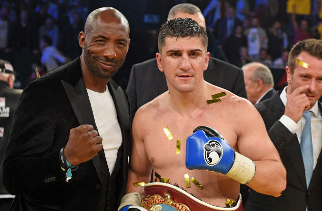 Johnny Nelson and rival Marco Huck. Photo Credit: Sky Sports