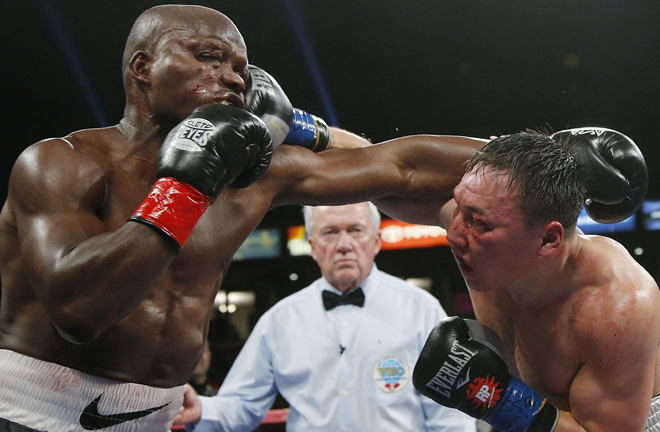 The fight of the year 2013. Photo Credit: USA Today