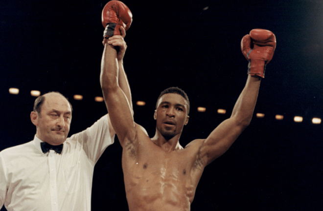 Michael Watson stopped Benn in six rounds in 1989 to take the Commonwealth strap Photo Credit: Variety.com