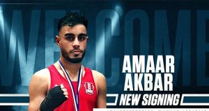 Amaar Akbar is delighted to have turned professional with Frank Warren.