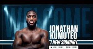 """Jonathan Kumuteo says it's a """"dream come true"""" after signing with Frank Warren Credit: Queensberry Promotions"""