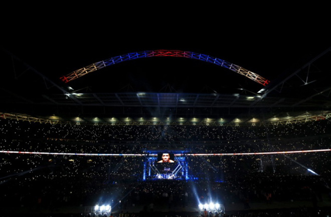 Hearn is hoping to stage the clash at Wembley Stadium Photo Credit: Peter Byrne/PA