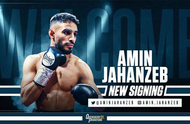 Amin Jahanzeb has joined forces with Frank Warren as the latest recruit to Queensbury Promotions