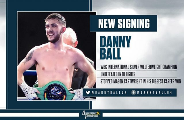 Danny Ball signs with Queensbury Promotions