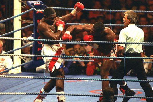 Lennox Lewis vs Frank Bruno, The Battle of Britain. Photo Credit: The Telegraph
