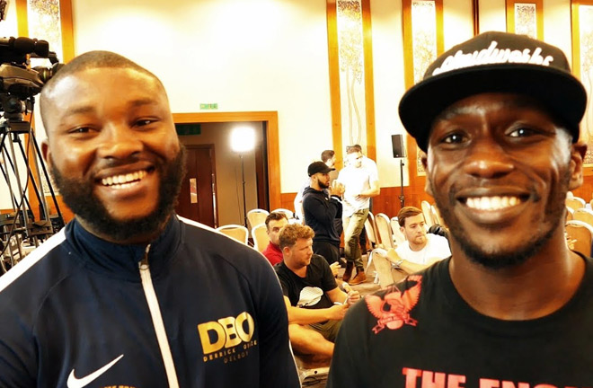 Ekow and Derrick Osaze representing Nottingham. Photo Credit: YouTube, Seconds Out.