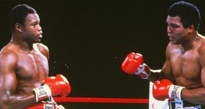 Larry Holmes taking on former sparring partner, Muhammad Ali. Photo Credit: Sports Illustrated.