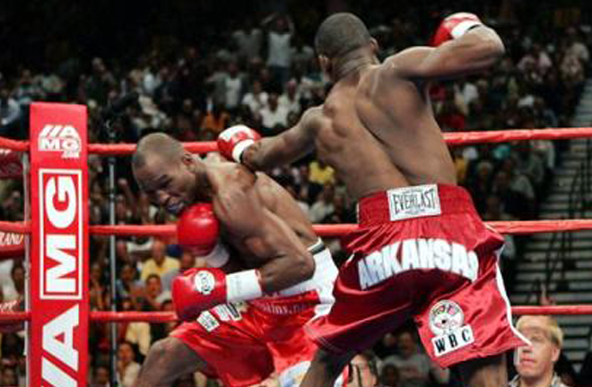 Jermain Taylor ended Hopkins' extensive reign with a split decision victory at the MGM Grand