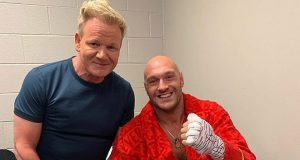 Boxing fanatic, Gordon Ramsay with Tyson Fury. Photo Credit: Mail Online