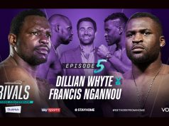 Dillian Whyte will come face-to-face with UFC star Francis Ngannou in an ePress Conference tomorrow Photo Credit: Matchroom Boxing