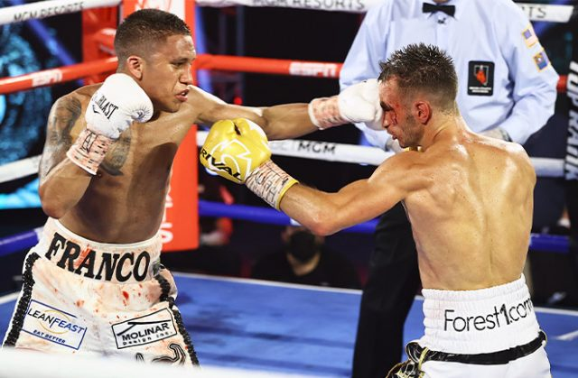 Joshua Franco dethroned Andrew Moloney in a close encounter. Photo Credit: Mikey Williams / Top Rank