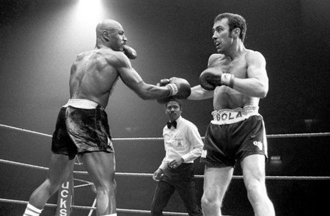 Hagler became World champion for the first time after beating Alan Minter. Photo Credit: Ring TV