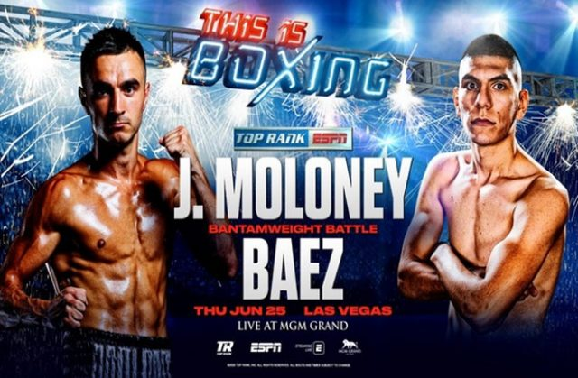 Jason Moloney faces Leonardo Baez. Photo Credit: Top Rank