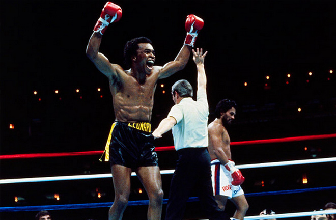 Leonard defeated Duran in the famous 'No Mas' bout in their rematch. Photo Credit: Fight Game Media.