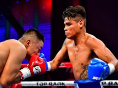 Emanuel Navarrete cruised to a sixth round stoppage over Uriel Lopez in Mexico Photo Credit: Zanfer Promotions