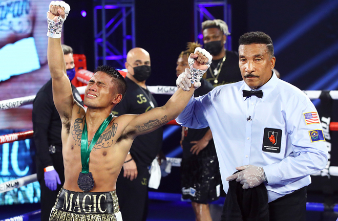 The Filipino was left elated after receiving the nod inside 'The Bubble' Photo Credit: Mikey Williams/Top Rank