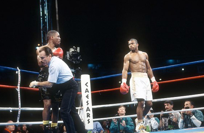 Roy Jones Jr taking on James Toney. Photo Credit: Hannibal Boxing