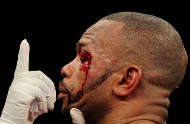 Roy Jones Jr, a shadow of his former self. Photo Credit: Sky Sports.