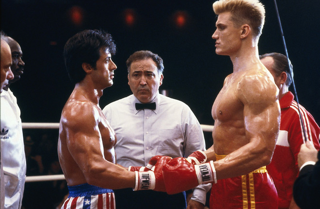 Rocky IV had a young Ricky Burns glued to the television. Photo Credit: Flavorwire