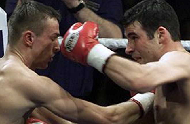 Calzaghe blew away Mario Veit inside a round in the first of two meetings between the pair in 2001 Photo Credit: BBC Sport