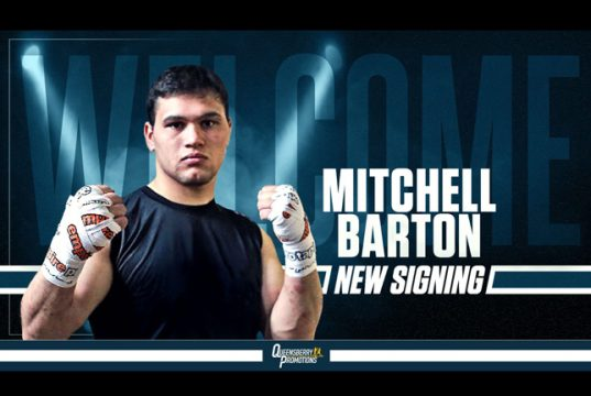 Heavyweight Mitchell Barton has penned his future with Frank Warren ahead of his professional debut Photo Credit: Queensberry Promotions